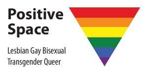 Positive Space rainbow triangle.